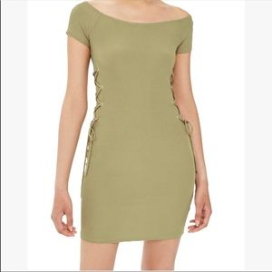 TOPSHOP  Lace-up side body-con dress US12/UK16 NWT